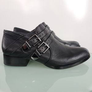 Vince Camuto Cosmika  Buckle Leather Black Bootie